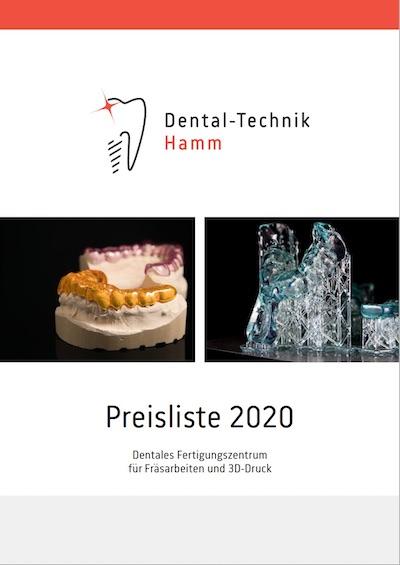 Teaser Preisliste Dentaltechnik Hamm
